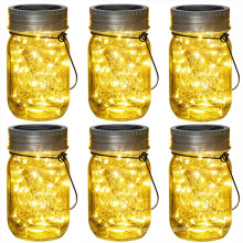 20LED Solar Hanging Mason Jar Lid Light