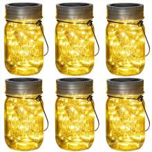 20LED солнечный светильник Mason Jar Lid