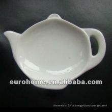 Suprimentos para hotel Ceramic Tea bag plates P0557