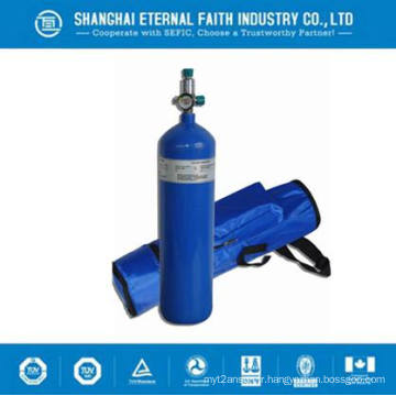 Cylindre de gaz à oxygène sans soudure à haute pression 50L