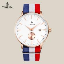 Luxo quartzo qualidade relógio de pulso com banda de nylon 72171