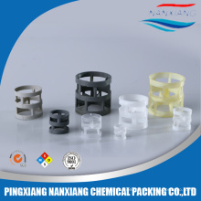 Pastic pall ring packing used in petroleum industry