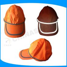 Casquillos de seguridad de color naranja fluorescente, hoodie de alta visibilidad para los trabajadores