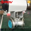 Pneumatische elektrische Flansch verbinden Y Typ 3-Wege 120 Grad 135 Grad Kugelhahn