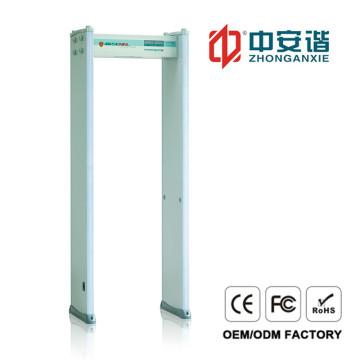 18 Zones LED Screen Door Frame Metal Detector Anti Interference Metal Detector