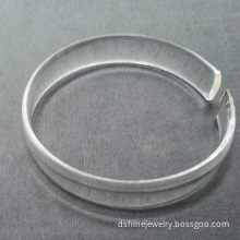 Women Acrylic Jewelry Cuff Clear Cheap Plastic Bangles