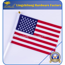 American Flag - 2.5 X 4 Feet Poly Cotton Flag with Pole Sleeve