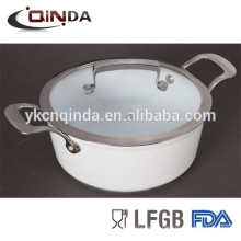 Aluminium forged marble casserole pot