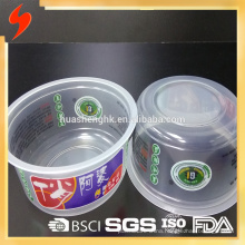 Food Grade Microwavable 360ml/12oz Disposable Plastic Pasta Bowl