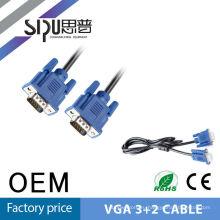 SIPU высокого качества vga 3 + 2 супер 15 метров vga кабель винты