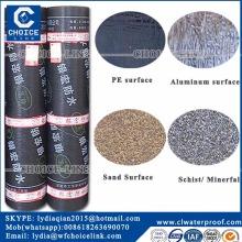roof material 3mm polyester reinforced SBS modified asphalt waterproof roll