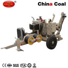 Tension aérienne de conducteur de ligne d'alimentation ficelant l'extracteur de câble hydraulique d'équipement