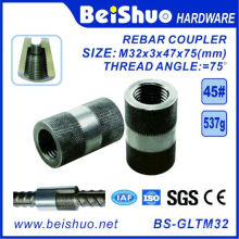 Conectores de Rebar de aço / Acopladores de Rebar