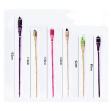 Marca FQ Alta qualidade colorido japonês flexível jardim de bambu tiki tocha