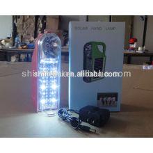 Lâmpada solar com fm rádio mão-liquidação carga lanterna lanterna solar