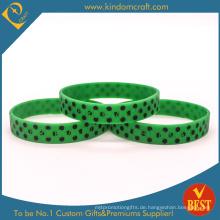 2015 Custom Imprinting und Debossed Silikon-Armbänder (KD1836)