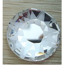 Round Flat Back Glass Stones Beads Frosted