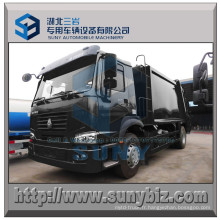 HOWO 266HP 4X2 10 M3 Compactor Garbage Truck