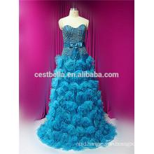 new hot-sale gorgeous high-quality blue MUSLIM evening dress muslim bridal dress