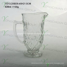 Jarra de jugo de vidrio de 1000 ml buena forma popular