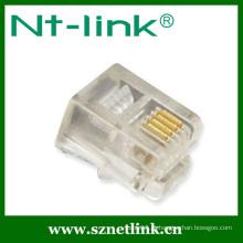 Plugue modular 6p4c do telefone Netlink