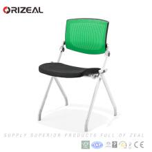 Orizeal Populaire usine prix métal quatre jambes pliant chaise visiteur de bureau avec des bras à vendre (OZ-OCV008-2B)