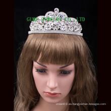 Tiara cristalina grande de la corona de la reina de la tiara de la plata de la nueva manera para el partido