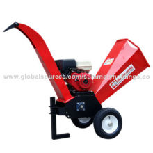 Mini Portable Wood Chipper, Shredder Gasoline Engine 15HP with Adjustable Discharge Chute