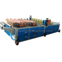 Pvc Foamed Roofing Sheet Extruding Machine , Trapezoidal Plastic Tile Roll Forming Line
