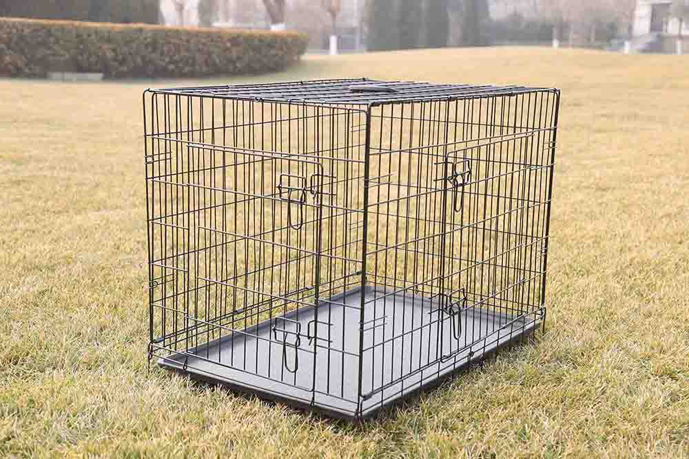 wire folding dog cage
