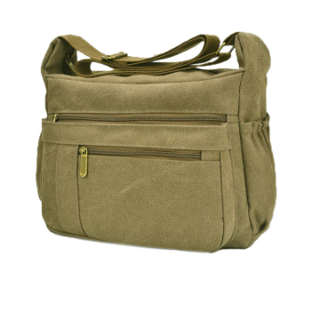 Vintage Casual Canvas Material Messenger Bag för Man