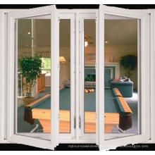 Fenêtre à battants en aluminium à double battants à l'extérieur