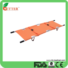 Aluminum alloy folding emergency stretcher