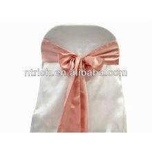 Ceinture de chaise Satin mauve, liens de chaise, enveloppements pour hotel banquet mariage