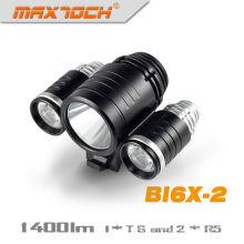 Maxtoch BI6X-2 3 * XML T6 alumínio CREE LED Night Rider bicicleta luz