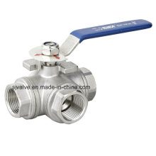 Ss304 3-Way Stainless Steel Ball Valve