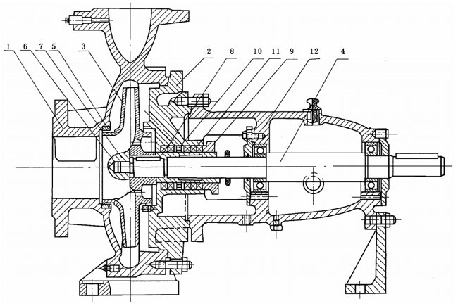 water pump configuration drawing