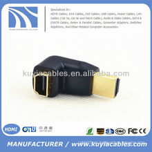 HDMI hembra a macho F / M Conector del cambiador del adaptador del acoplador de 90 grados