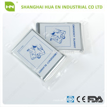 Vente en gros Mylar Aluminium Emergency Blankets 2016 made in China CE