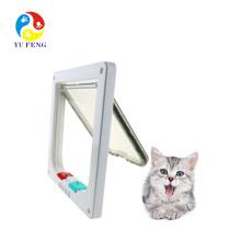 Кот мат 4 способ блокировки кошачью дверь с дверной вкладыш Белый Кот мат 4 способ блокировки Кот клапан с вкладышем дверь Белый