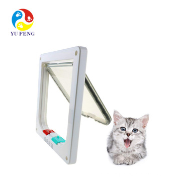 Cat Mate 4 Way Locking Cat Flap with Door Liner White Cat Mate 4 Way Locking Cat Flap with Door Liner White