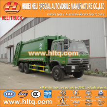 DONGFENG 6x4 16/20 m3 heavy duty rear loading refuse truck engine 210hp with pressing mechanism