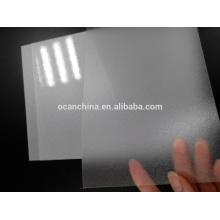 Folha rígida clara gravada grão brilhante do PVC para imprimir