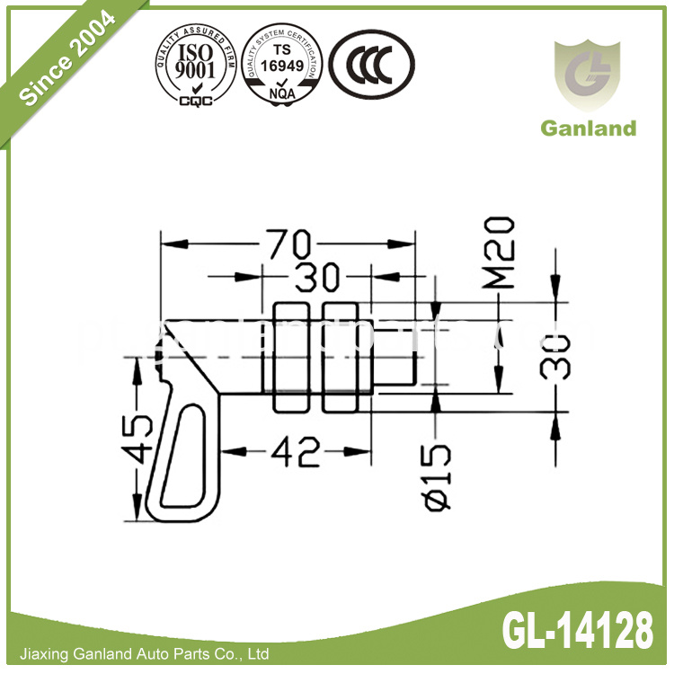 Weld on spring bolt GL-14128-5