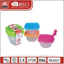 Comida de microondas plástico recipiente 0.14L(4pc)
