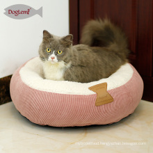 Winter Cat Bed Round Donut Fleece Cat Pet Cushion House