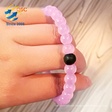 Most Popular Customizable logo beads silicone bead bracelet High grade