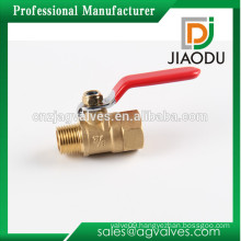 Female male brass color pure nickel plate plated or chrome plating used for isolation water brass DN10 3/8 inch mini ball valve