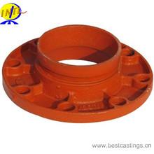 UL FM Approved Ductile Iron Grooved Fitting Adaptor Flange