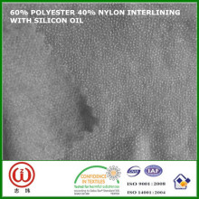 Telas que entretejen de nylon fusibles no tejidas de la mano suave